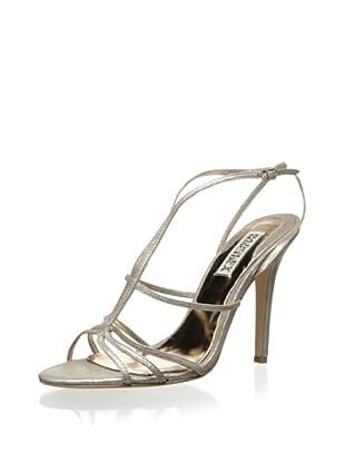 Badgley Mischka Women's Vivian Sandal (Platinum Metallic)