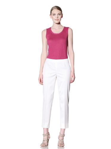 Lafayette 148 New York Women's Cropped Side Zip Pant (White)