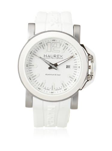 Haurex Italy Men's 1D370UWS San Marco White Textured Dial Rubber Watch