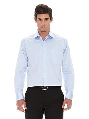 Turrau Camisa Vestir Microdibujo (Celeste)