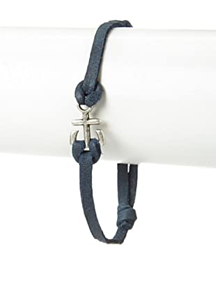 Griffin Navy Port Leather Bracelet