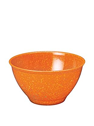 Rachael Ray Garbage Bowl with Non-Slip Rubber Base, Orange