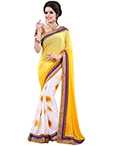 Dani Fashions Georgette Saree(3003_Yellow)