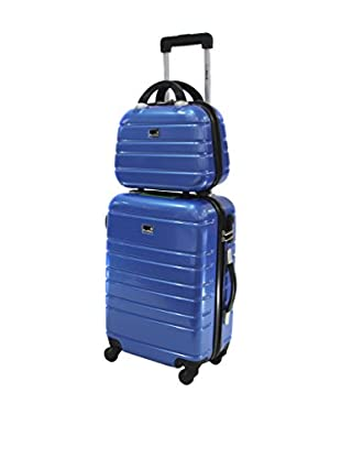 BLUESTAR Set Trolley Rigido e Beauty Case Manhattan