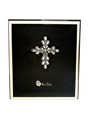 Theresa Seidel Shadow Box with Medium Cross, Tan/Black/Silver