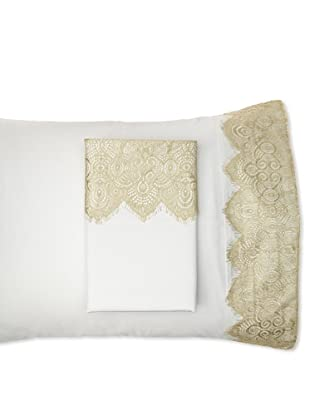 Blissliving Home Set of 2 Tango Lace Pillowcases (Ice/Leaf)
