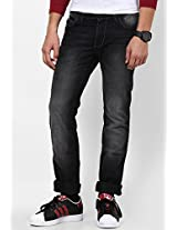 Brushed Black Slim Fit Jeans