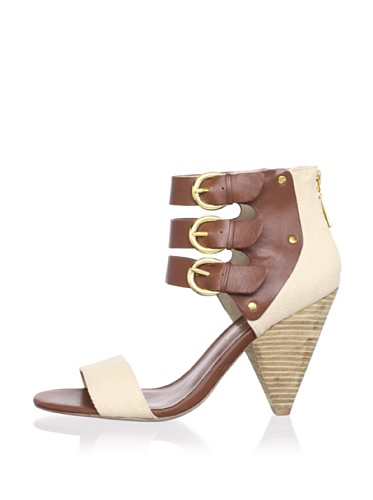 Matt Bernson Women's Cortez 3-Strap Sandal (Natural)