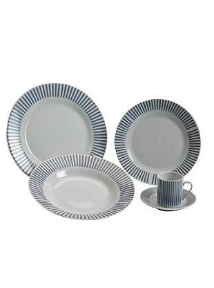 Table Set 30 Pezzi Tavola Tondo Radial Blu