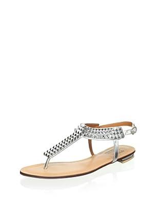 Schutz Women's Studded Thong Sandal (Silver)