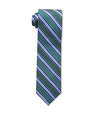 Bruno Piattelli Men's Stripe Silk Tie, Navy Multi