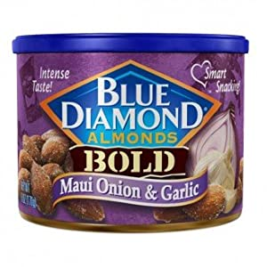 Blue Diamond Almonds - Maui Onion & Garlic - 150gms - Can - Blue Diamond