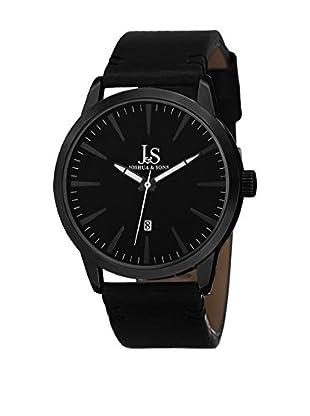 Joshua & Sons Uhr mit Schweizer Quarzuhrwerk JS86BK schwarz 41.5  mm