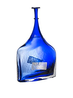 Kosta Boda Satellite Decorative Bottle (Blue)