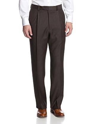 Giorgio Valentini Men's Check Pants (Brown Tic)