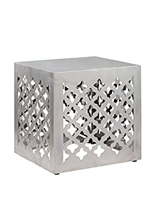 Zuo Modern Kailua Industrial Stool, Stainless Steel