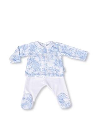 Pasito a Pasito Pijama 2 piezas en Toile (Azul)