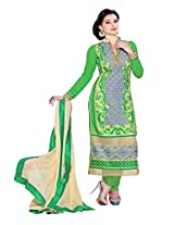 Allurning green coloured straight cut suit