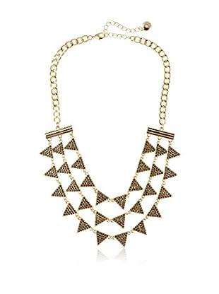 Fragments Triple Strand Triangle Bib Necklace