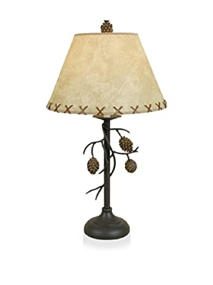 Dennis East Pine Cone Branch Table Lamp