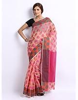 Bunkar Resham Work Beige Saree for women
