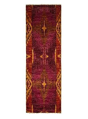 Darya Rugs Ikat Oriental Rug, Red, 2' 8