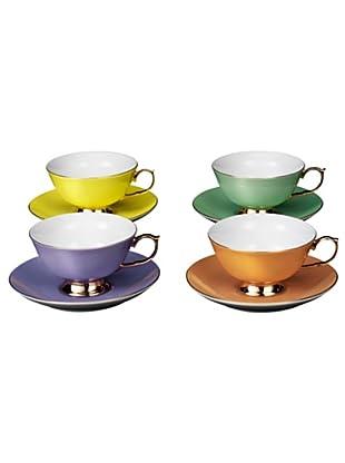 Lob Design Espressotasse mit Untersetzer Princess 4er Set mehrfarbig