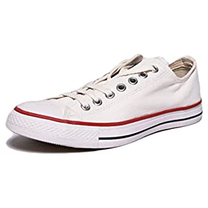 Converse All Star Unisex White Canvas Sneakers (UK 10)