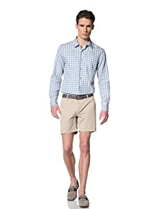 Brent Wilson The Basics Men's Tailored Short with Single Back Pocket Flap (Taupe)