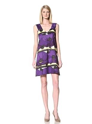 MARNI Women's Floral Printed Tank Dress (Purple)