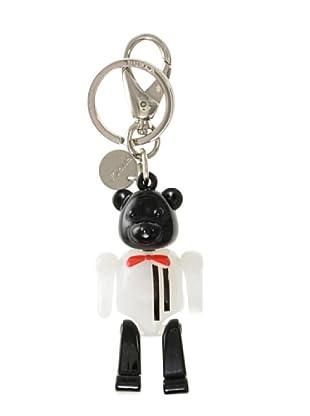 Furla Schlüsselanhänger Teddy Righe weiß/schwarz