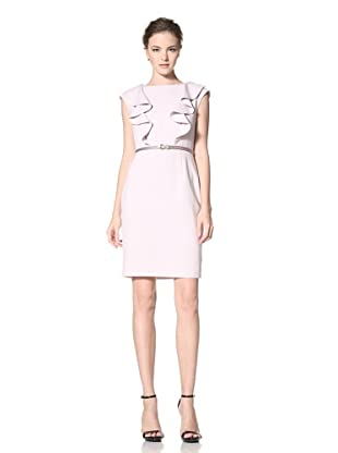 Calvin Klein Women's Cap Sleeve Dress with Ruffle Detail (Mauve)