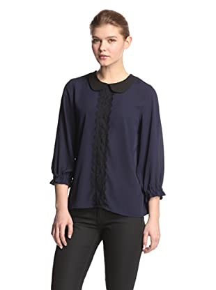 Melissa Masse Women's Peter Pan Top (Navy/Black)