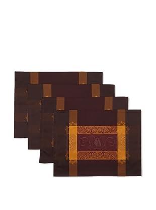 Garnier-Thiebaut Set of 4 Bagatelle Placemats (Velour)
