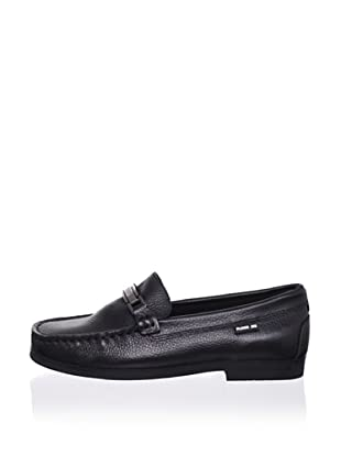 Pliner Jrs Blade Loafer (Black pebbled)