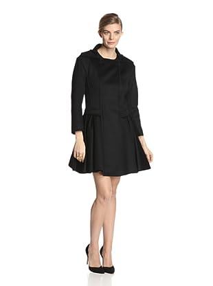 Nina Ricci Women's Pleat Bottom Coat (Black)