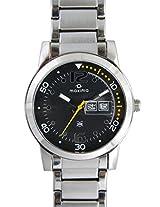 Maxima Attivo Steel Analog Black Dial Men's Watch - 21010CMGI