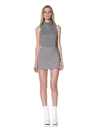 Ann Demeulemeester Women's Double Button Skirt (Pearl)