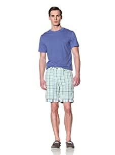 Tailor Vintage Men's Reversible Short (Aqua Kiwi Check)