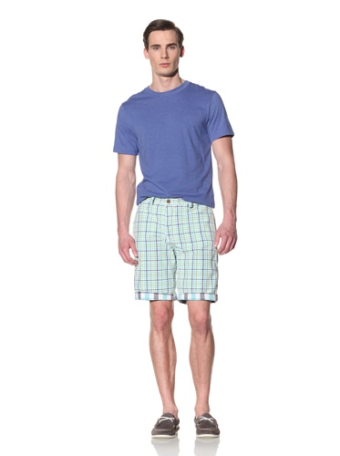 Tailor Vintage Men's Reversible Short (Aqua Kiwi Check)