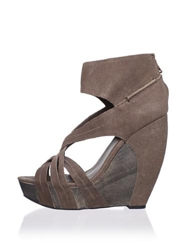 Joe's Jeans Women's Gavin Wedge Sandal (Brown)