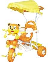 Bajaj Unique Yellow Canopy Tricycle