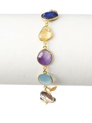 Saachi Blue, Purple & Orange Stone Bracelet