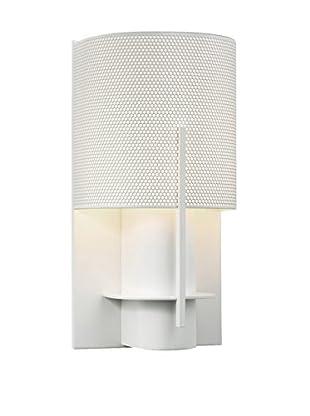Sonneman Lighting Oberon Sconce, Satin White/White