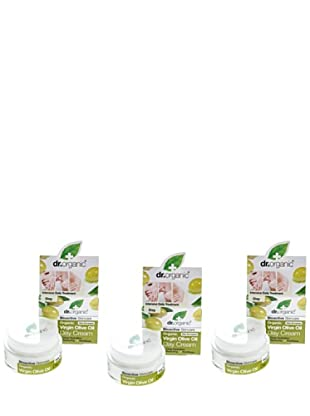 Dr.Organic Set 3 Crema Facial de Día Aceite de Oliva 50Ml (u)