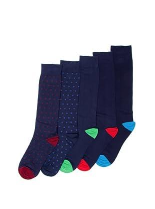 Sockaholic Pack de 5 Pares Calcetines Caña Alta Nicola+Isabel+Jacobo+Nacho+Pedro (Multicolor)