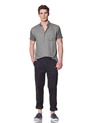 Fremont Men's Short Sleeve Panel Shirt (Grey/Chambray)