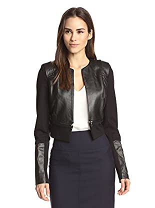 LaPINA Women's Structured Double Knit Cropped Jacket