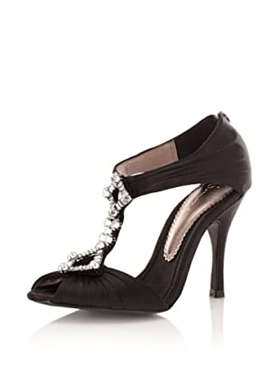 Bourne Women's Rachel T-Strap Sandal (Black)