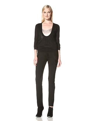 C'N'C Costume National Women's Deep Scoop Sweater (Black)
